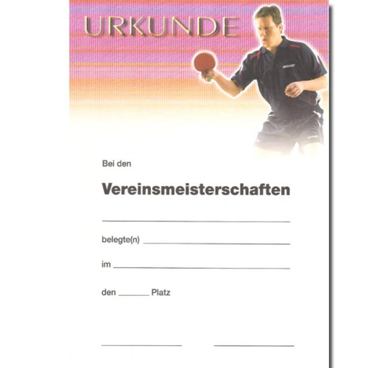 Urkunde DONIC J.O. Waldner VM