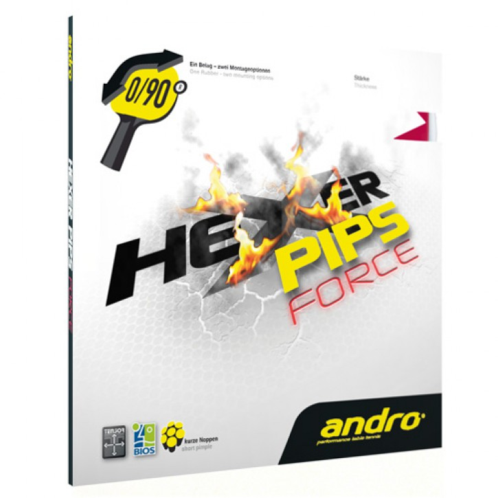 andro Belag Hexer Pips Force
