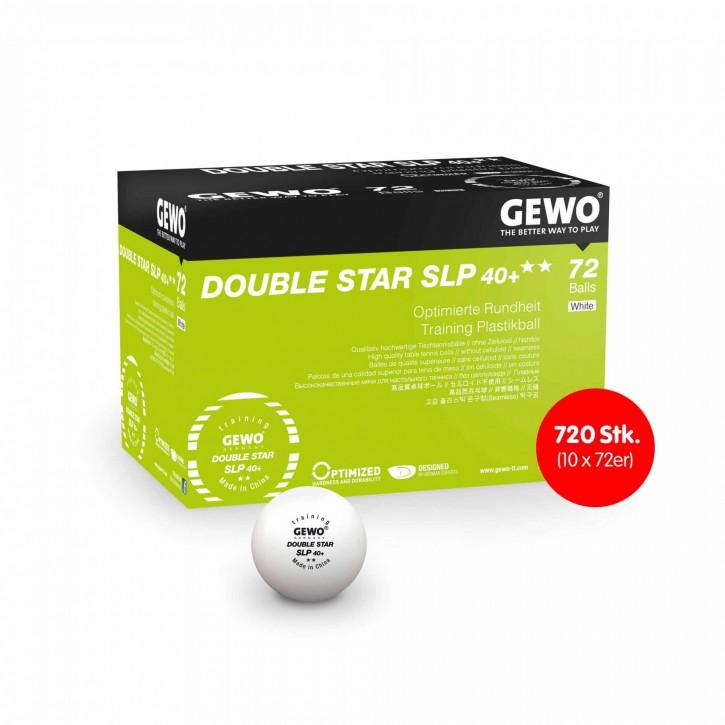 Gewo Ball Double Star SLP 40+ 720 Stk. (10 x 72 Bälle,weiß)