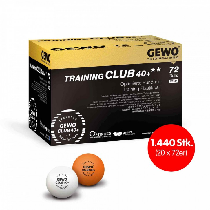GEWO Ball Training Club 40+** 20 x 72er Karton