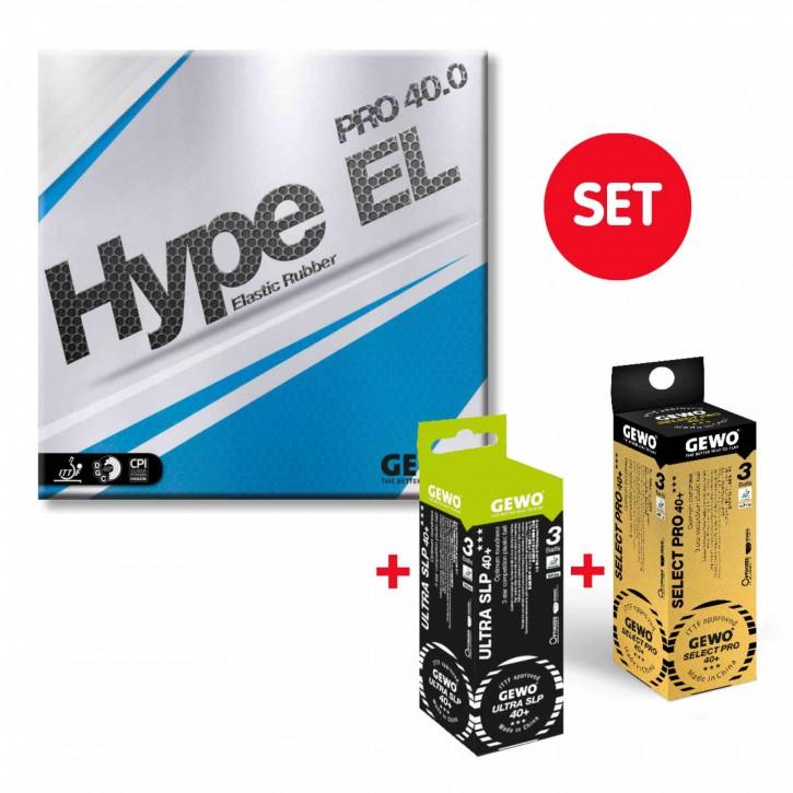 GEWO BelagGEWO Hype EL Pro 40.0 + je 1x3er Select Pro 40+ und Ultra