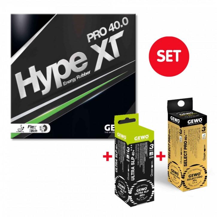 GEWO Belag Hype XT Pro 40.0 + je 1x3er Select Pro 40+ und Ultra SLP 40+