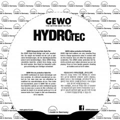 Gewo HydroTec Tensor Belagschutzfolie